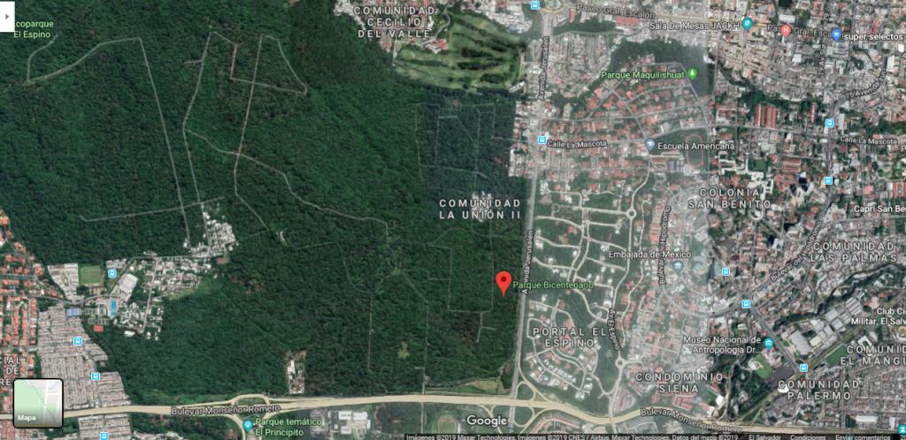 mapa de ubicacion de parque bicentenario